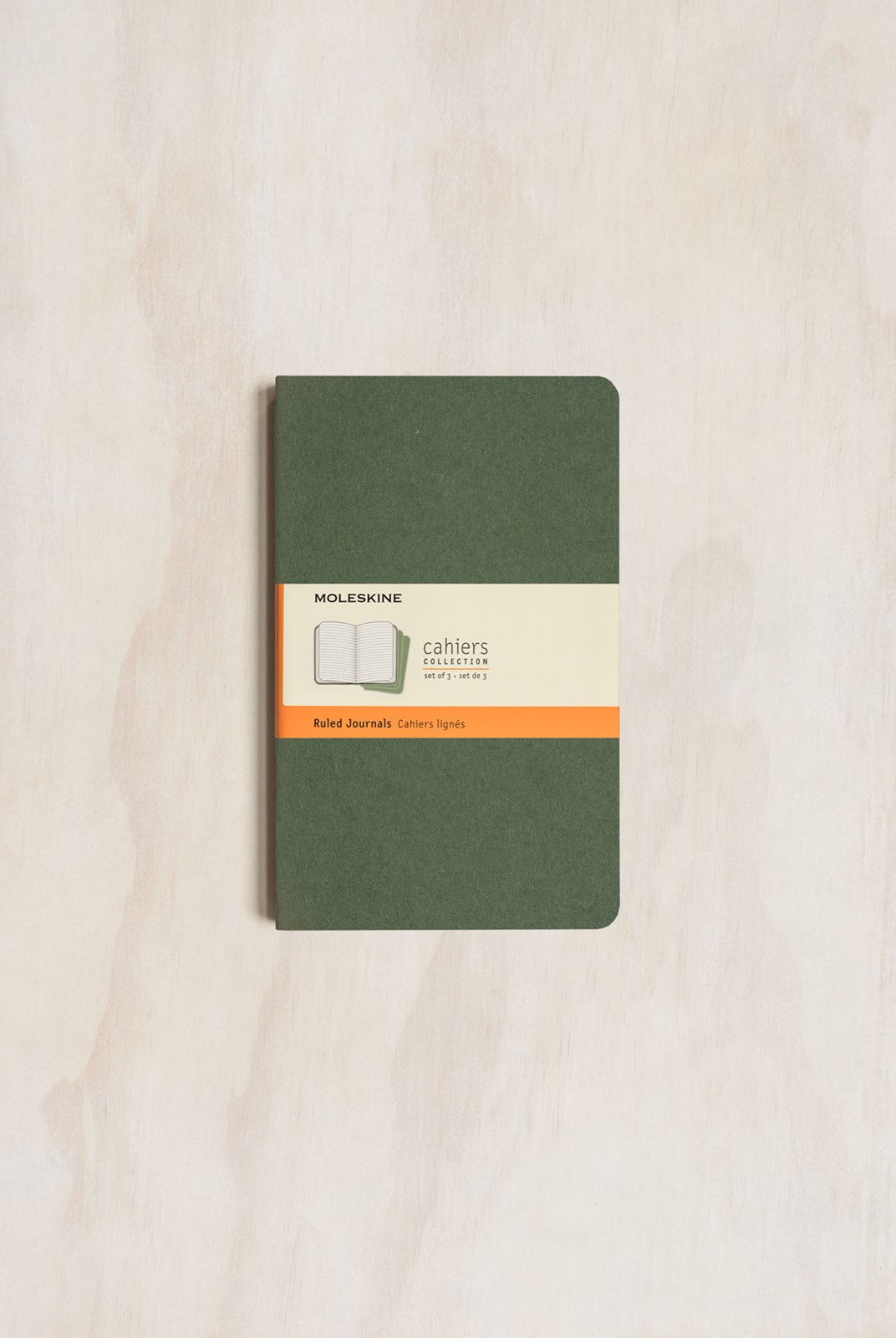 Moleskine - Cahier Notebook - Set of 3 - Ruled - Large - Myrtle Green