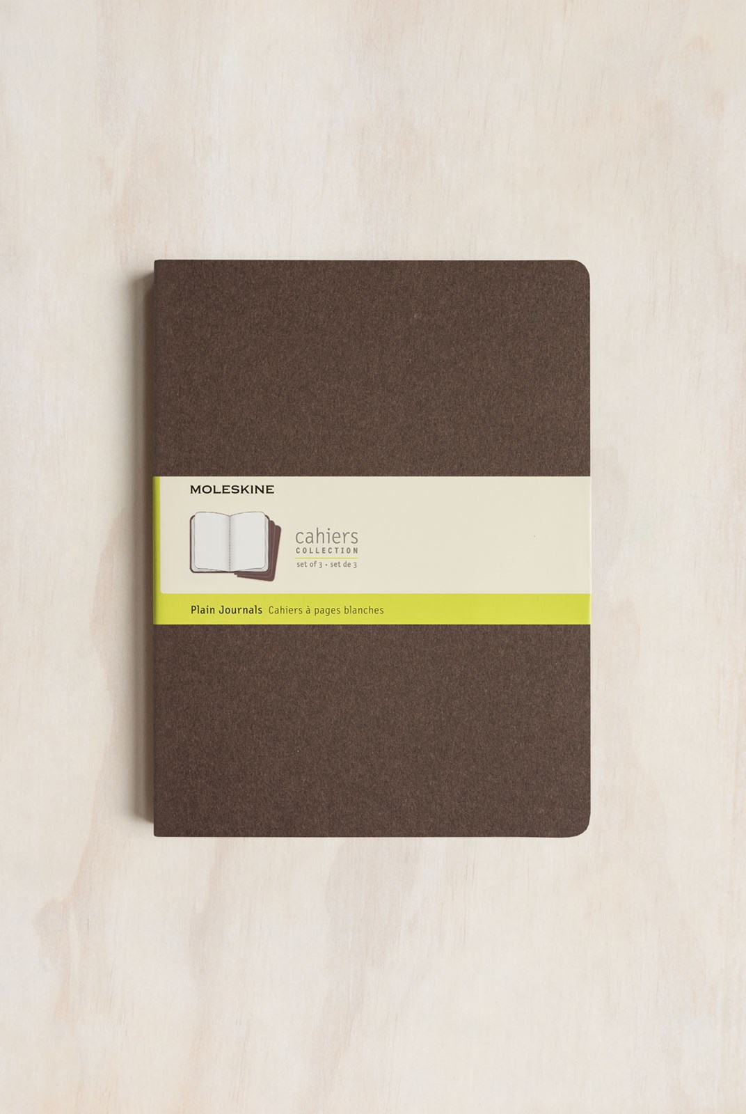 Moleskine - Cahier Notebook - Set of 3 - Plain - Extra Large - Coffee Brown