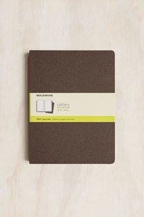 Moleskine - Cahier Notebook - Set of 3 - Plain - Extra Large - Coffee Brown - Notebooks & Journals Notebook - Plain