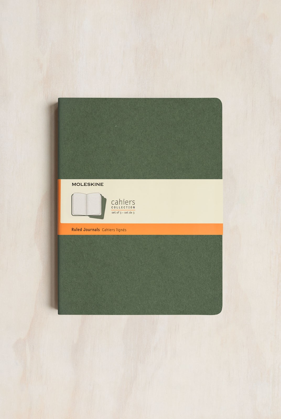Moleskine - Cahier Notebook - Set of 3 - Ruled - Extra Large - Myrtle Green