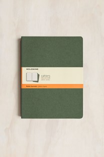 Moleskine - Cahier Notebook - Set of 3 - Ruled - Extra Large - Myrtle Green - Notebooks & Journals Notebook - Ruled