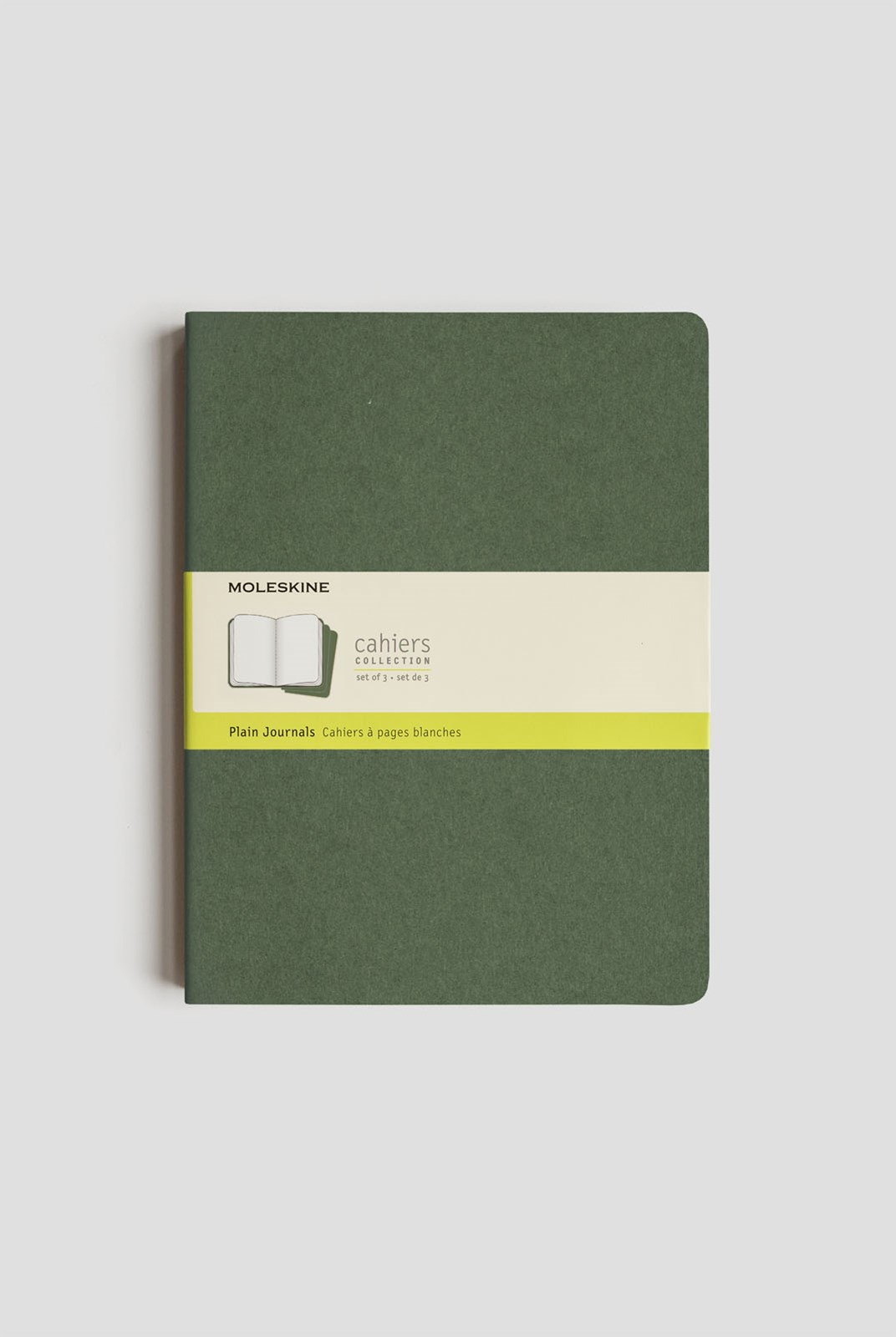 Moleskine - Cahier Notebook - Set of 3 - Plain - Extra Large - Myrtle Green