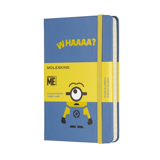 Moleskine - Limited Edition Minions Notebook - Ruled - Pocket - Blue