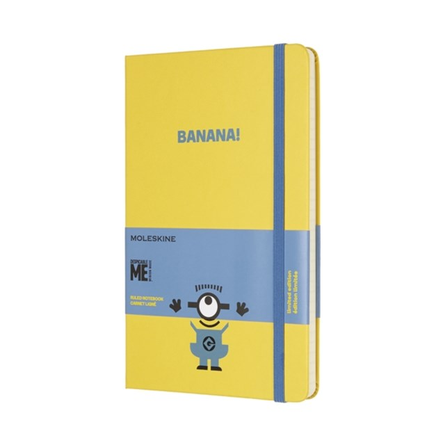 Moleskine - Limited Edition Minions Notebook - Ruled - Large - Sunflower Yellow