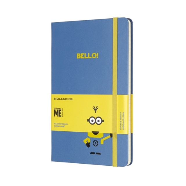 Moleskine - Limited Edition Minions Notebook - Ruled - Large - Blue