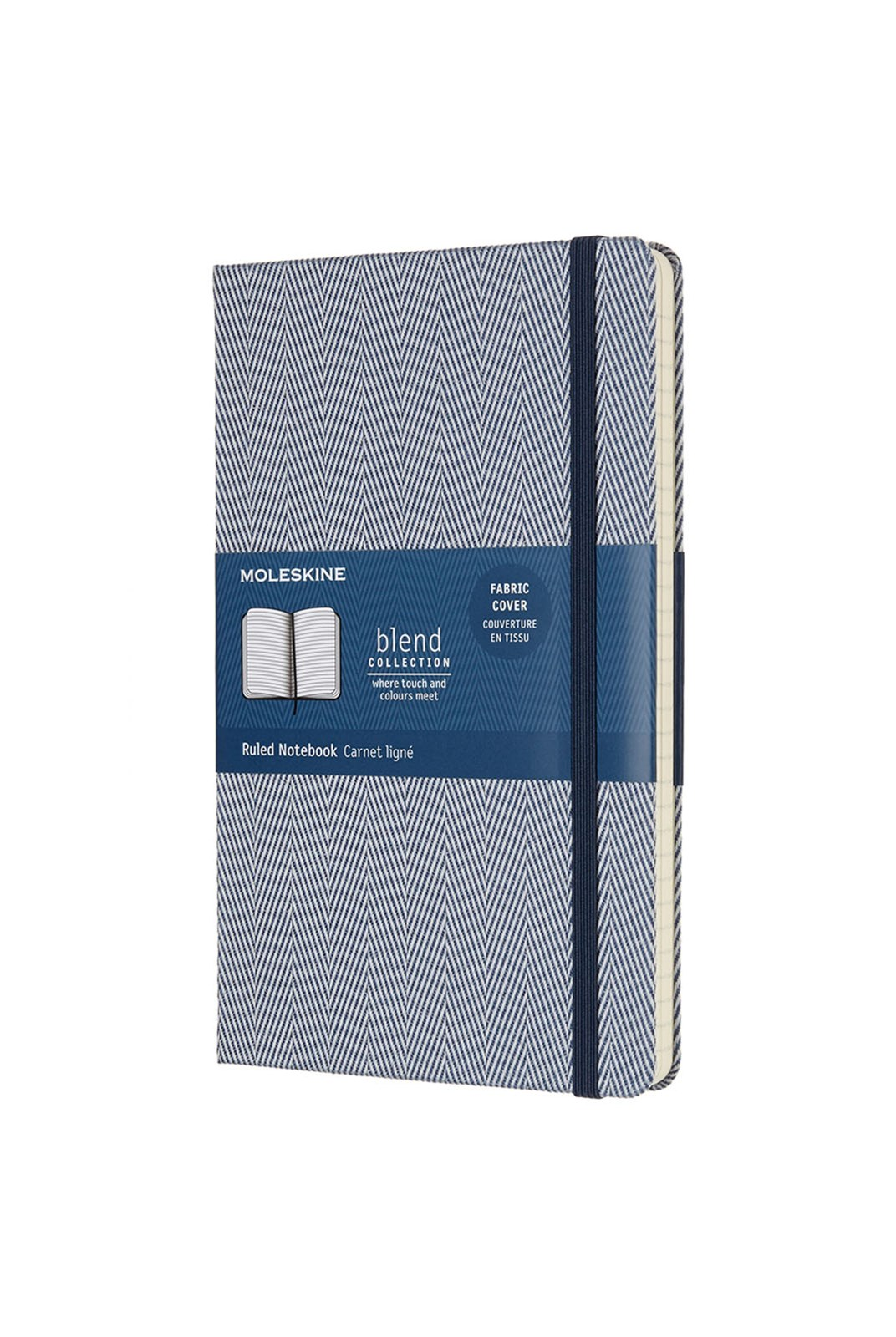 Moleskine - Blend Notebook - Ruled - Large - Twill Blue