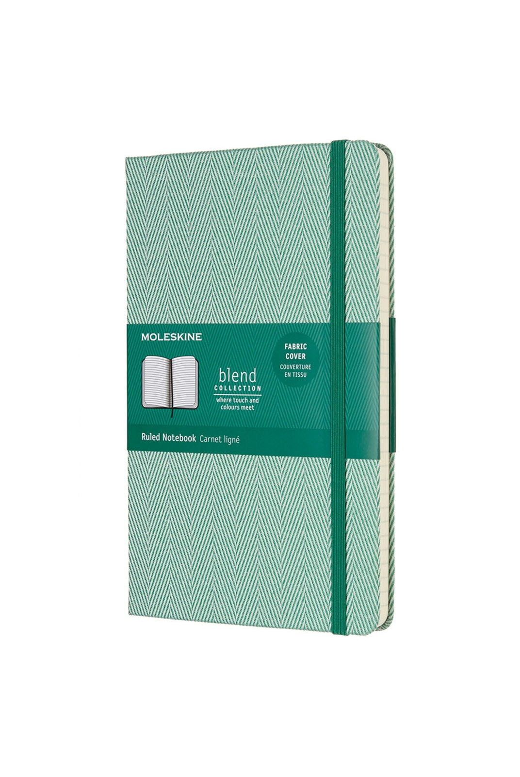 Moleskine - Blend Notebook - Ruled - Large - Twill Green