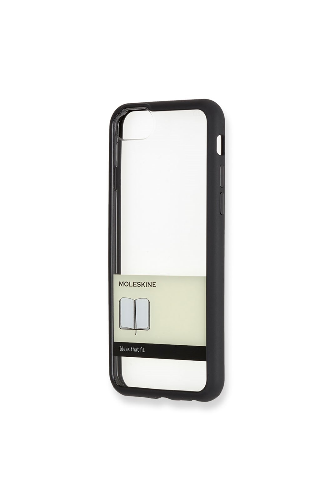 Moleskine - Transparent Elastic Hard Case - iPhone 7/7s Black