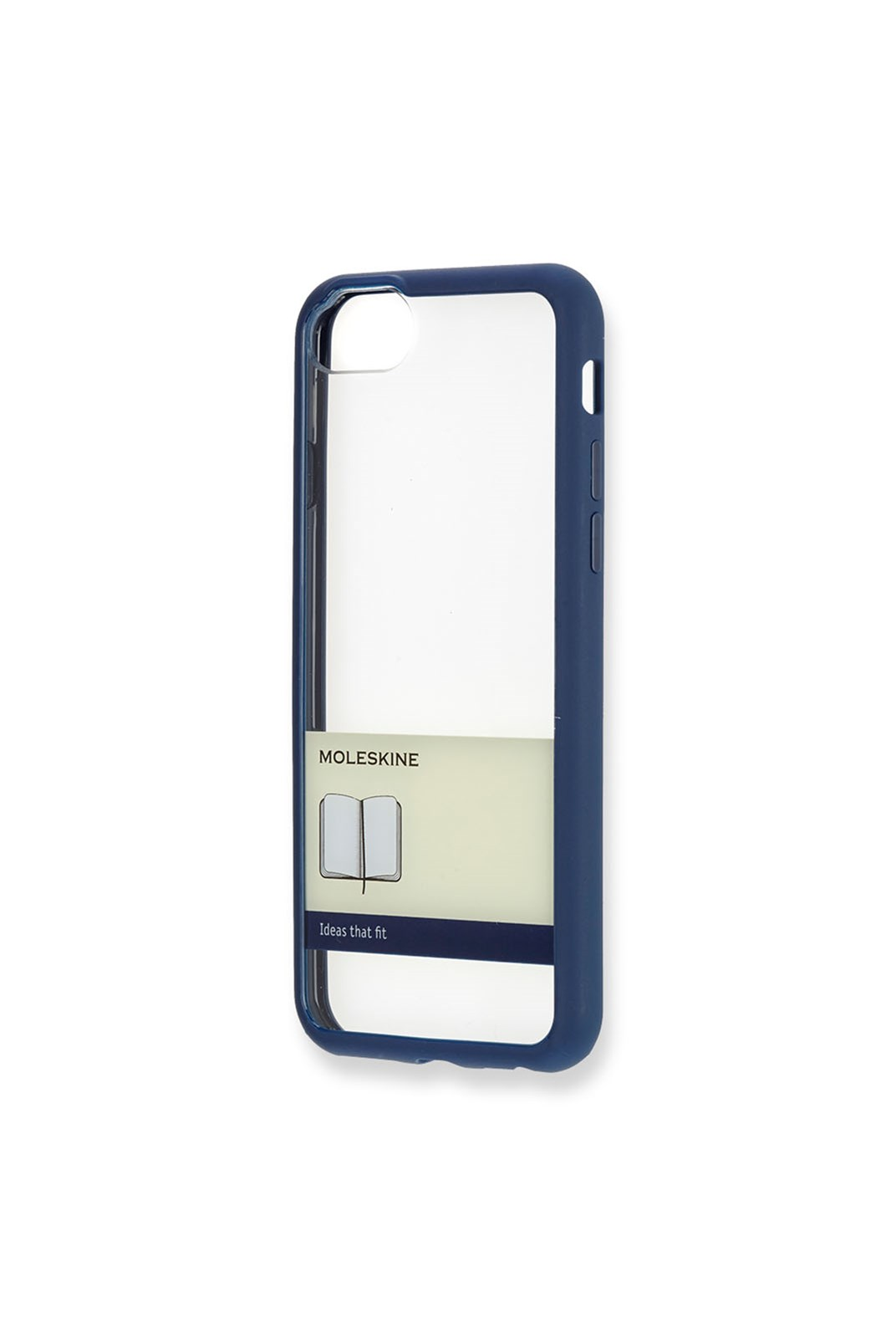 Moleskine - Transparent Elastic Hard Case - iPhone 7/7s Blue