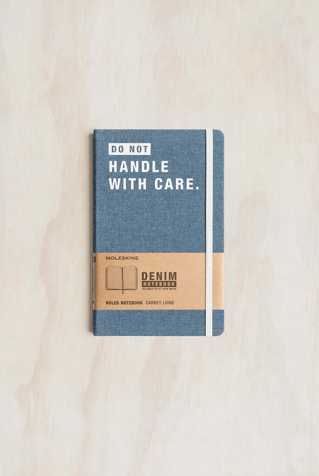 Moleskine - Denim Notebook - Ruled - Large - Handle With Care
