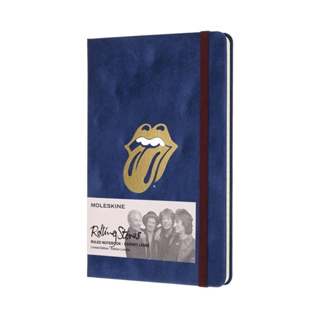 Moleskine - Limited Edition Rolling Stones Notebook - Ruled - Large - Flock