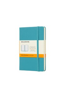 Moleskine - Classic Hard Cover Notebook - Ruled - Pocket - Reef Blue - Notebooks & Journals Notebook - Ruled