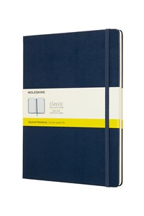 Moleskine - Classic Hard Cover Notebook - Grid - Extra Large - Sapphire Blue - Notebooks & Journals Notebook - Grid