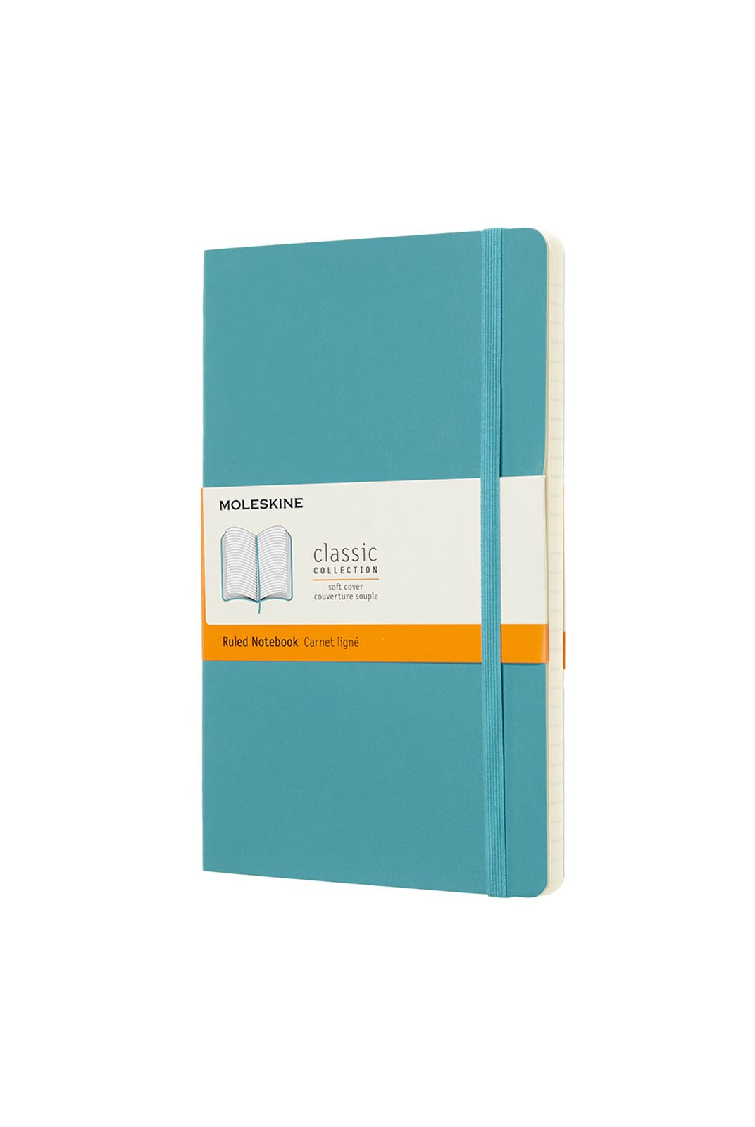 Moleskine - Classic Soft Cover Notebook - Ruled - Large - Reef Blue