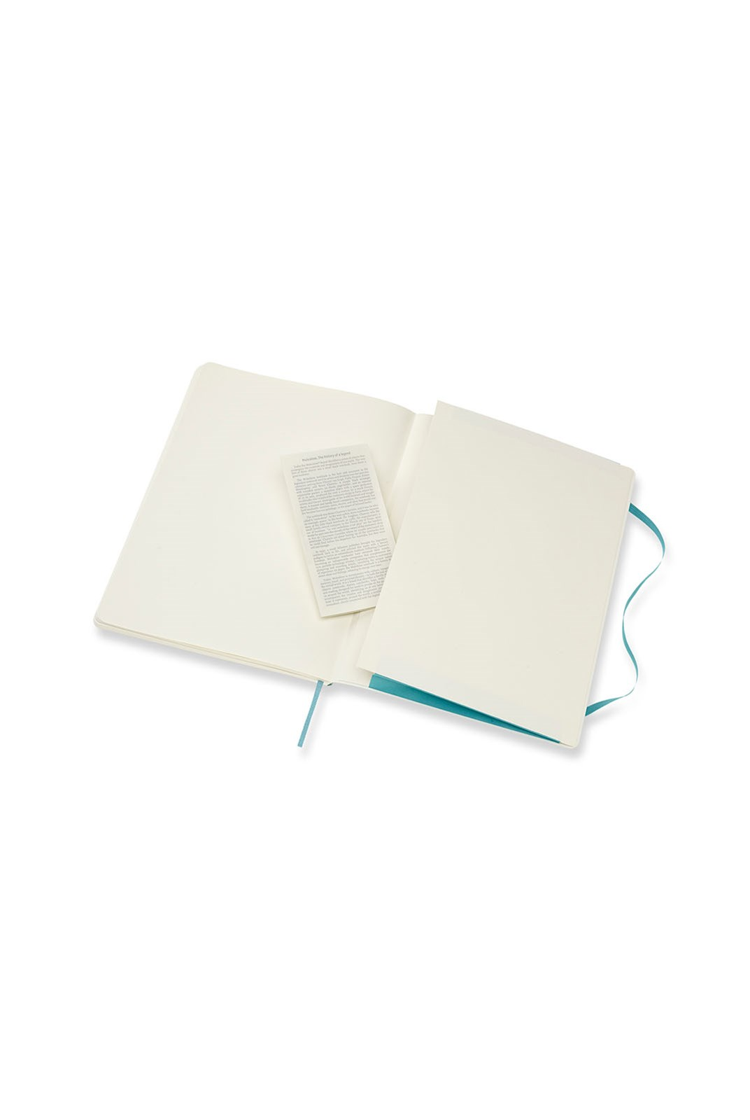 Moleskine - Classic Soft Cover Notebook - Plain - Extra Large - Reef Blue
