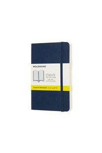 Moleskine - Classic Soft Cover Notebook - Grid - Pocket - Sapphire Blue - Notebooks & Journals Notebook - Grid