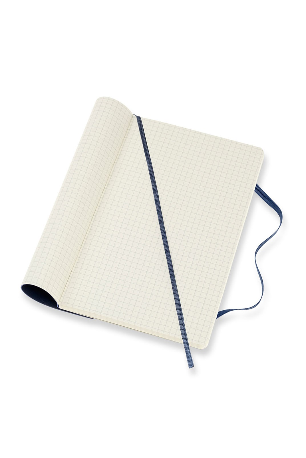 Moleskine - Classic Soft Cover Notebook - Grid - Large - Sapphire Blue