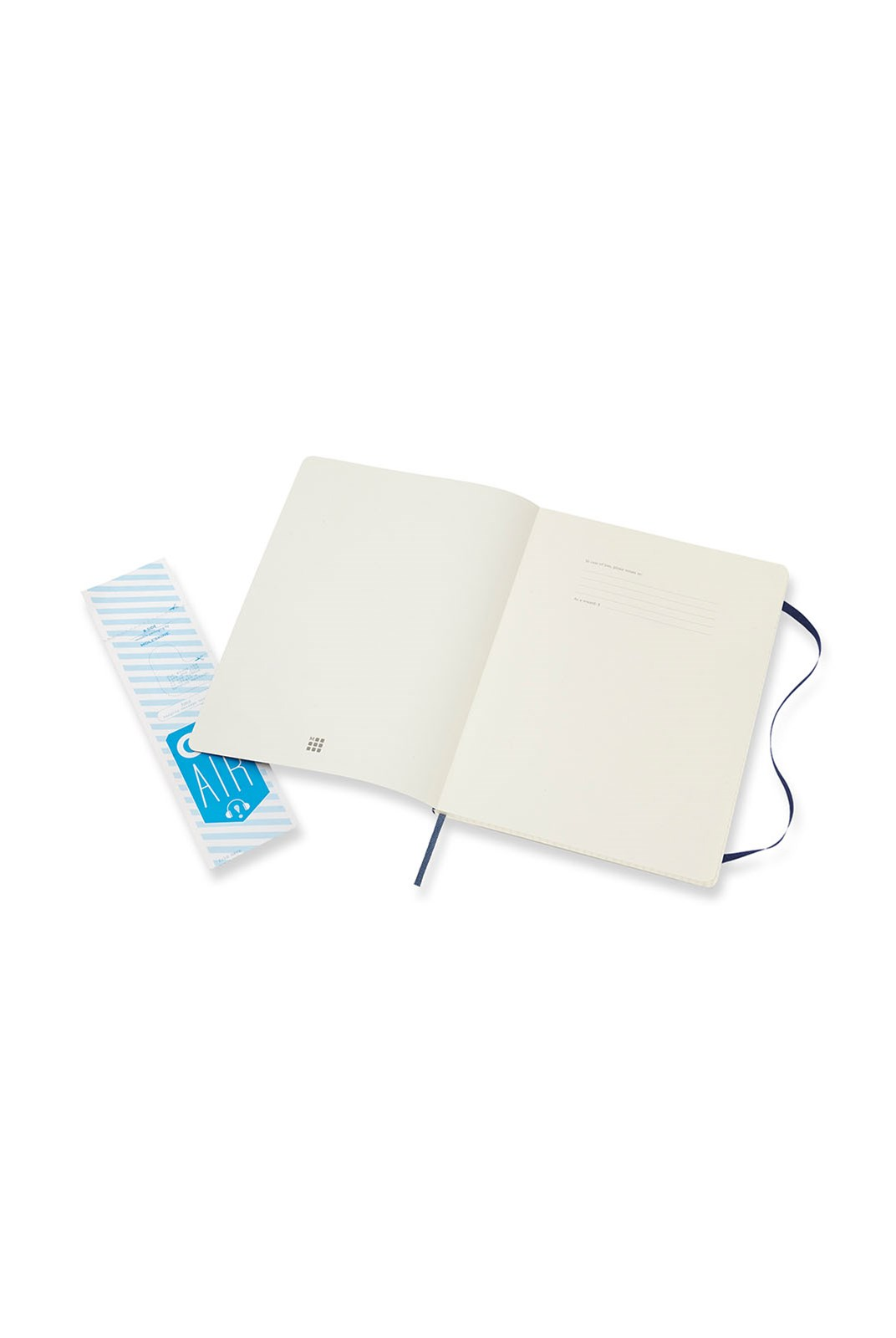 Moleskine - Classic Soft Cover Notebook - Grid - Extra Large - Sapphire Blue