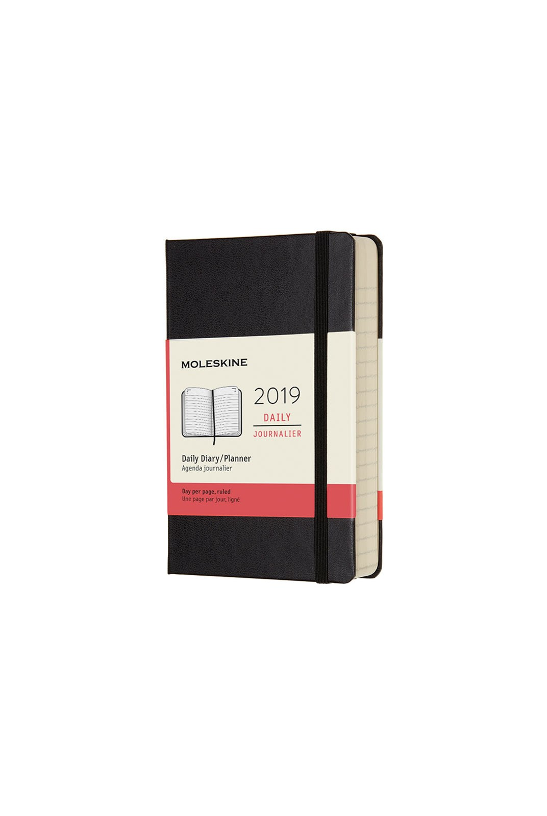Moleskine - 2019 Hard Cover Diary - Daily - Pocket - Black