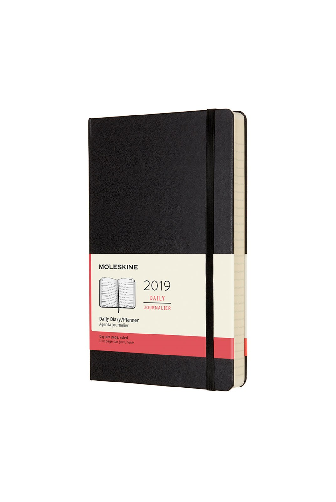 Moleskine - 2019 Hard Cover Diary - Daily - Large - Black