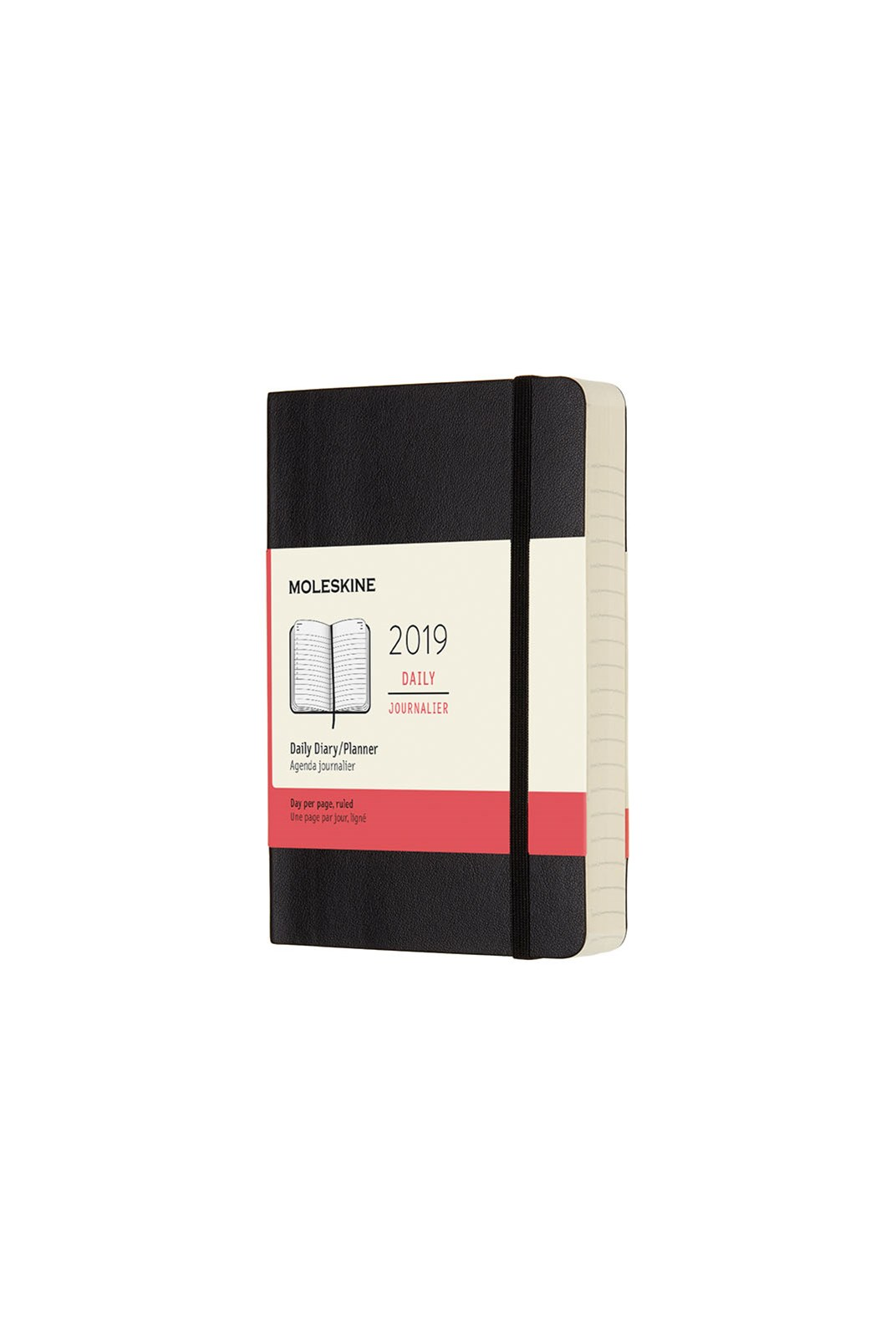 Moleskine - 2019 Soft Cover Diary - Daily - Pocket - Black