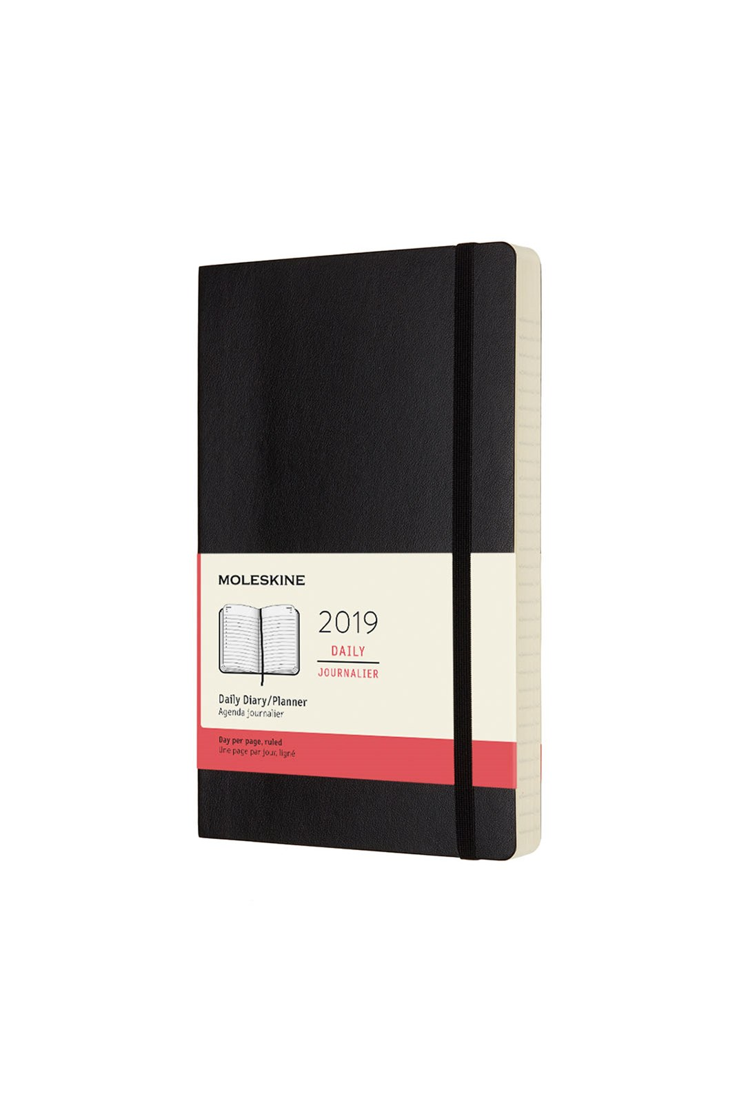 Moleskine - 2019 Soft Cover Diary - Daily - Large - Black