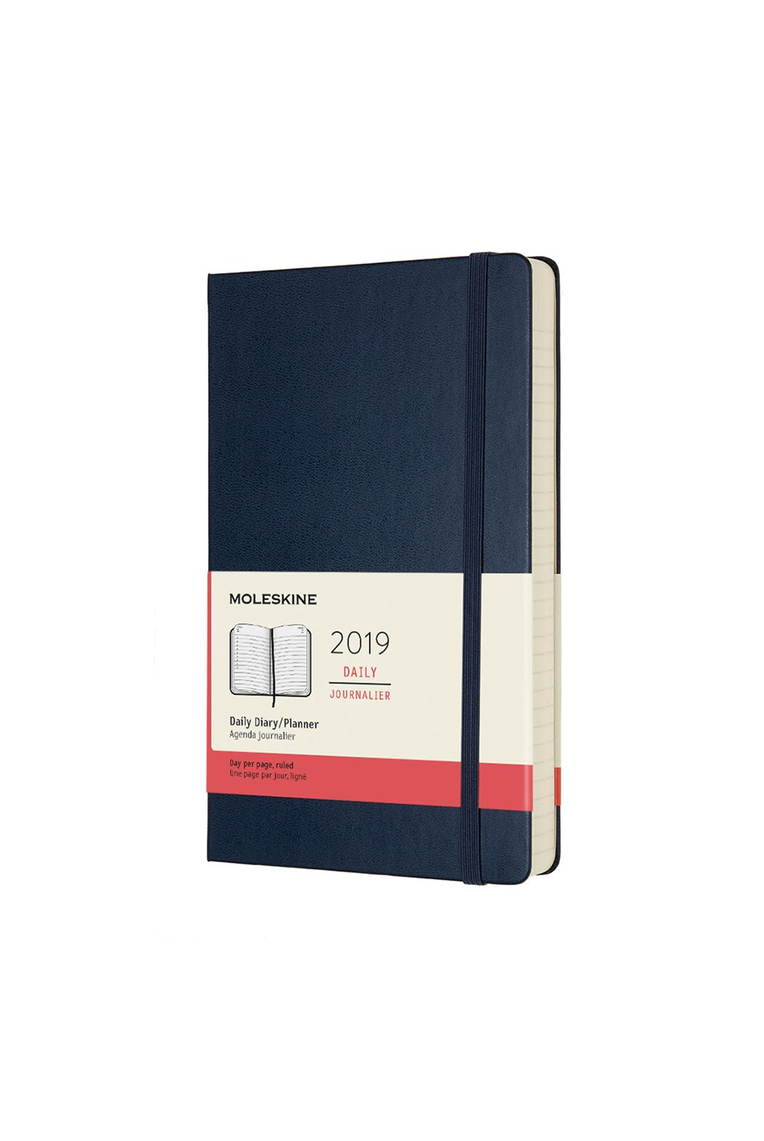 Moleskine - 2019 Hard Cover Diary - Daily - Large - Sapphire Blue