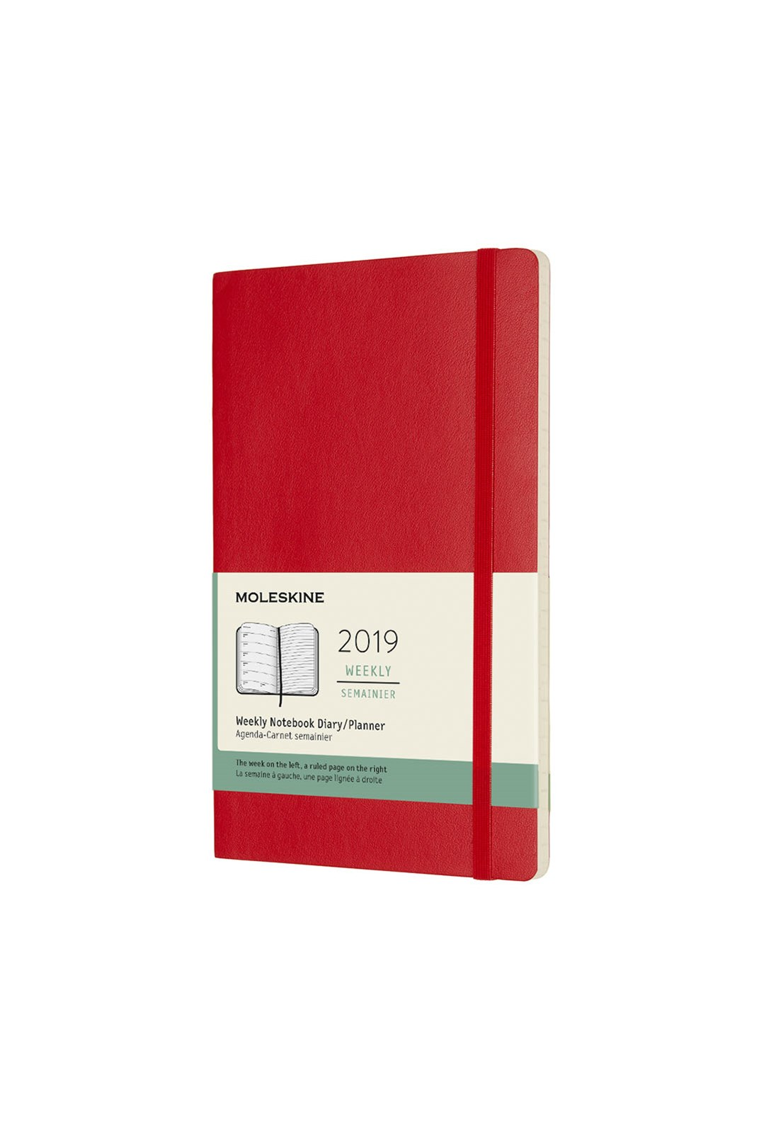 Moleskine - 2019 Soft Cover Diary - Weekly Notebook - Large - Scarlet Red