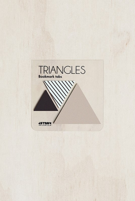 Jstory - Sticky Notes - Pack of 3 - Triangle - Stripe