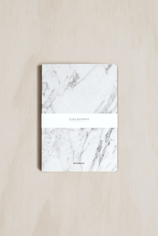 Dear Maison - Stone Notebook - Plain - Medium - White Marble