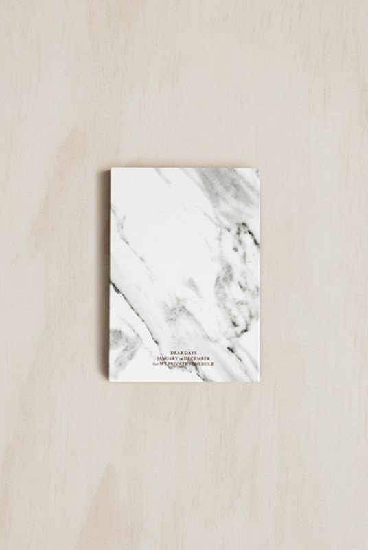Dear Maison - Marble Undated Diary - Pocket - White