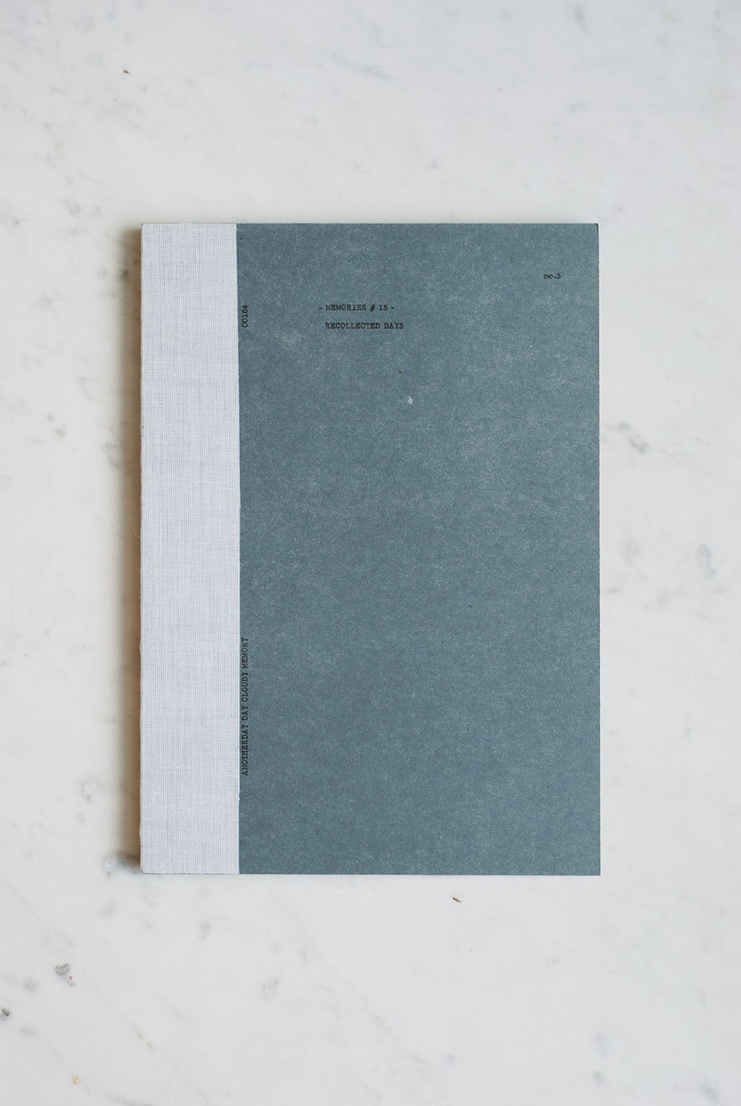 O-Check Design Graphics - Utility Notebook - Plain - Large - Recycled Pages - Blue