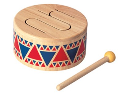PlanToys - Solid Drum - Children's Toys & Games Infant Toys