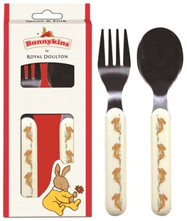 Bunnykins Red Spoon & Fork Playing Design - Homewares Kitchen & Dining
