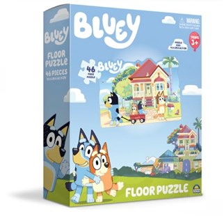 Bluey 46 Piece Floor Jigsaw Puzzle - Children's Toys & Games Games & Puzzles