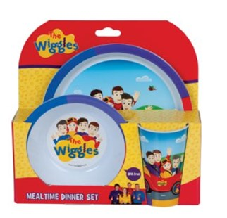 The Wiggles 3 Piece Mealtime Set by  (9319057060310) - General Merchandise