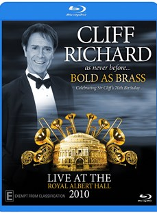 Cliff Richard Bold as Brass Live in London 2010 (Blu Ray) - Film & TV Music & Musicals