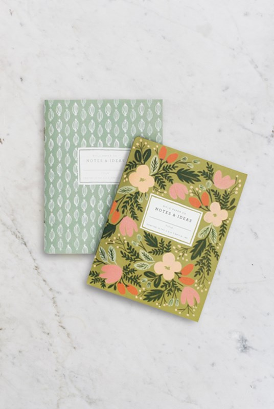 Rifle Paper Co - Pack of 2 Notebooks - Plain - Pocket - Moss Garden