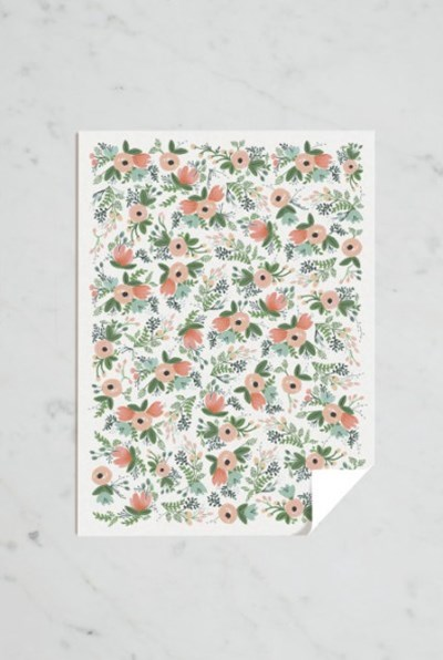 Rifle Paper Co - Single Wrapping Sheet - Wildflower