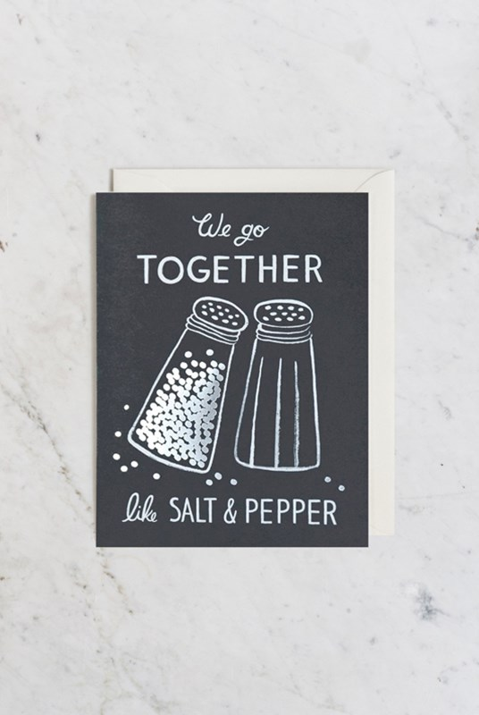 Rifle Paper Co - Single Card - Salt and Pepper