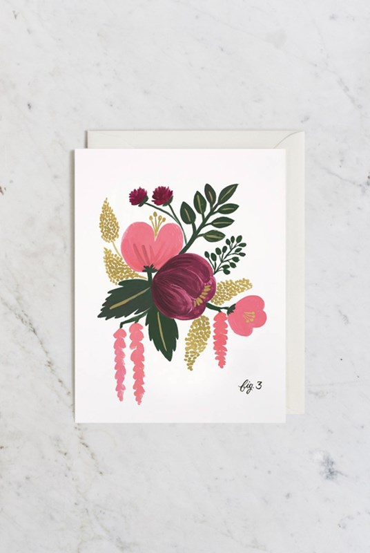 Rifle Paper Co - Single Card - Botanical - Raspberry (fig.3)