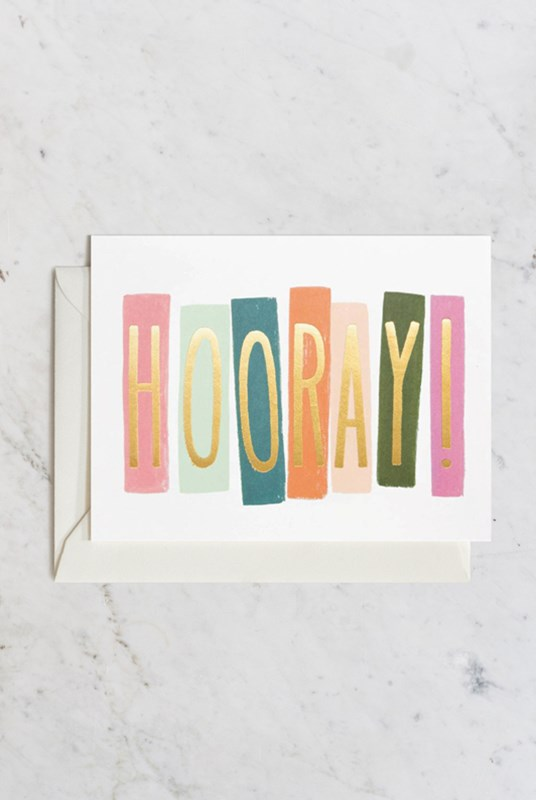 Rifle Paper Co - Single Card - Hooray!