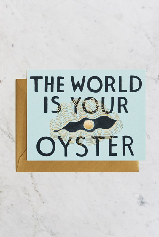 Rifle Paper Co - Single Card - The World is Your Oyster