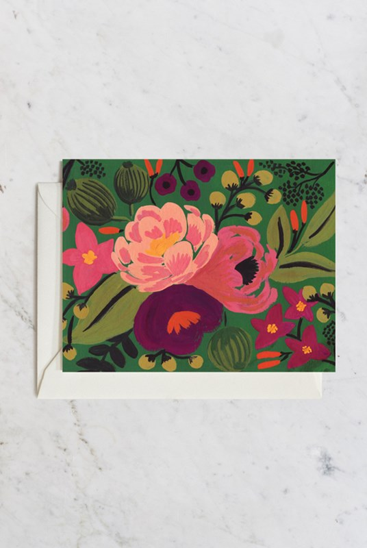 Rifle Paper Co - Single Card - Botanical - Blossoms Green