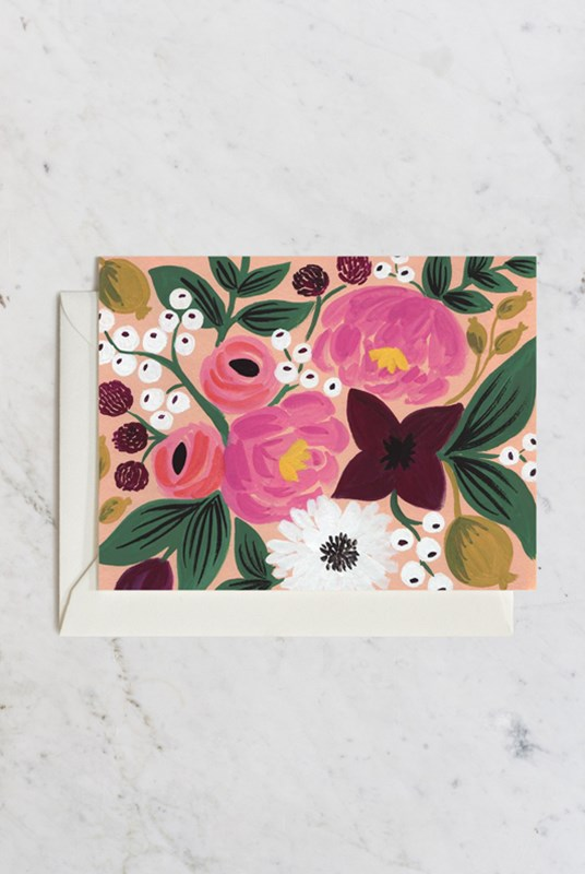 Rifle Paper Co - Single Card - Botanical - Blossoms Peach