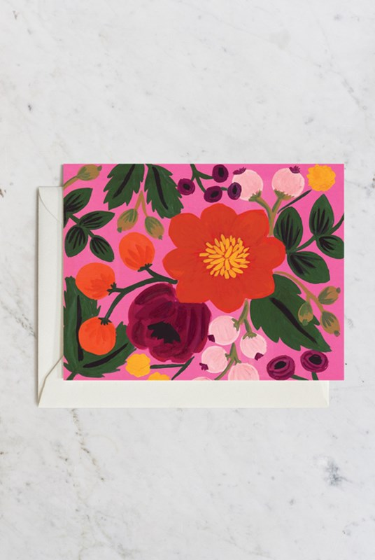 Rifle Paper Co - Single Card - Botanical - Blossoms Rose