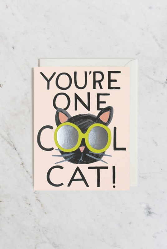 Rifle Paper Co - Single Card - Cool Cat