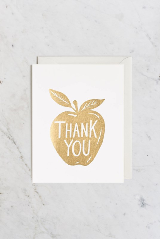 Rifle Paper Co - Single Card - Golden Apple - Thank You