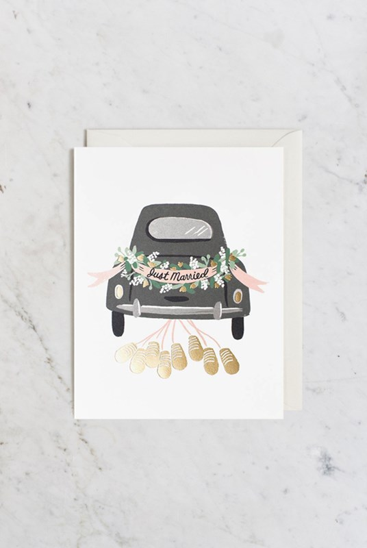 Rifle Paper Co - Single Card - Just Married Getaway
