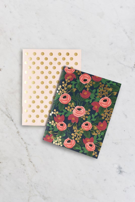 Rifle Paper Co - Pack of 2 Notebooks - Plain - Pocket - Rosa
